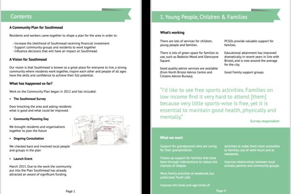 Southmead Community Plan portfolio image